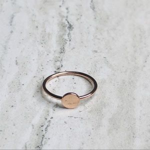 925 Sterling Silver Rose Gold Geometric Ring Size6